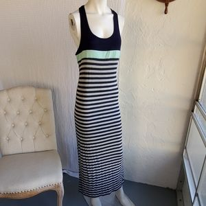 Maxi dress tank striped dress
